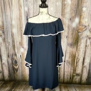 Taylor ruffle off the shoulder bell sleeve dress 6